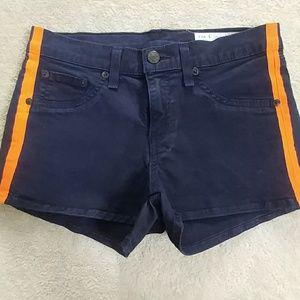 Rag & Bone Beachwood Navy Blue Shorts